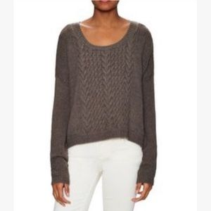 Alice + Olivia boxy cable knit scoop Neck sweater